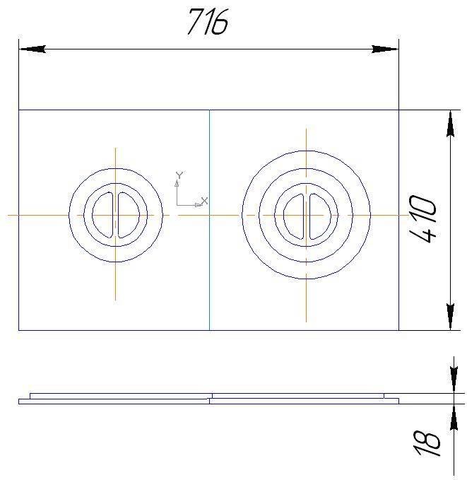 Плита П2-3 - Комплект деталей для бытовых печей . Сибтензоприбор